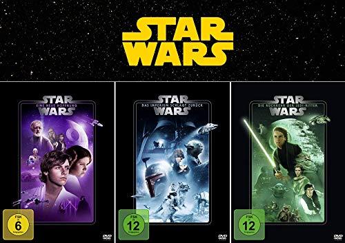 Star Wars Trilogie - Die Fortsetzung: Eine neue Hoffnung (4) + Das Imperium schlägt zurück (5) + Die Rückkehr der Jedi-Ritter (