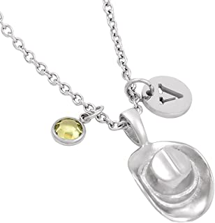 Cowboy Hat Memorial Funeral Urn Cremation Jewelry Ashes Keepsake Urn Pendant Necklace