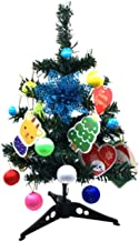 Amosfun Mini Table Top Christmas Tree with Light Baubles and StandLED Glowing Xmas Tree with Flower and Card Holiday New Y...