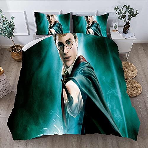 GD-SJK Amacigana Harry Potter - Juego de ropa de cama (funda nórdica de 135 x 200 cm, diseño de Harry Potter, 10,220 x 240/50 x 75)