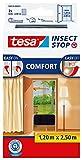 tesa Insect Stop COMFORT Fliegengitter für Türen - Insektenschutz Tür mit Klettband - Fliegen...