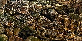 VIP.LINE Rock Wall Aquarium Background Poster PVC Fish Tank Decor Landscape 24 36 48 72
