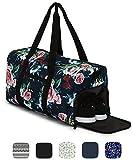 Sac de sport élégant Ela Mo's avec compartiment chaussures - 38l - bagages à main - pour les hommes et les femmes - dans 6designs tendance, A Rose is A Rose, L