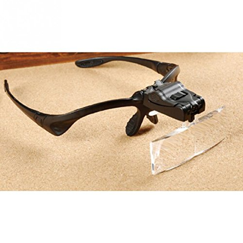 LED cabeza luces uso portátil para lectura 5lente 1.0x ~ 3,5x diadema LED lupa ojo gafas lupa de visor)–Pier 27