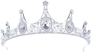 YNYA Tiare Diadema Nuziale Tiara Fascia da Sposa con Borchie a Forma di Corona di Gioielli da Sposa Accessori Abito da Spo...