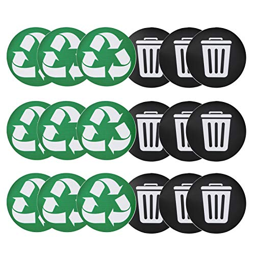 *Recycle Decal Trash Label Recycle Aufkleber Trash Decal Selbstklebend für Dosen Müllcontainer Bin*