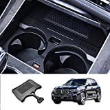 Kucok Car Wireless Charger Mount fit for BMW X5 2019 2020,QC 3.0 Fast Charging Compatible with iPhone Xs,XR,X,8, fit for Samsung S9,S9,S8,S7,Note 8,Wireless Charging Devices