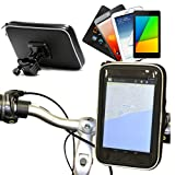 Navitech Cycle / Bike / Bicycle Waterproof Holder Mount & Case Compatible With The 7 Inch Tablets Including The Huawei MediaPad X2 Tablet / Asus MeMO Pad 7 ME572C-1A018A / LG G Pad F 7.0 / Alcatel OneTouch Pixi 3
