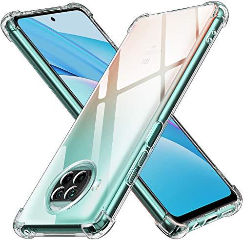 ivoler Klar Silikon Hülle für Xiaomi Mi 10T Lite mit Stoßfest Schutzecken, Dünne Weiche Transparent Schutzhülle Flexible TPU Durchsichtige Handyhülle Kratzfest Case Cover