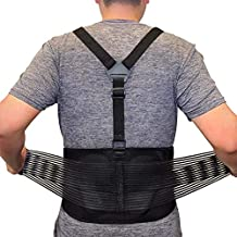 Back Brace For Lifting Work Y-shape Suspenders Safety Belt With Dual Medical 3D Lumbar Support Relieve Pain, Prevent Injury - XL/XXL