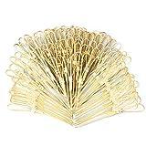 AUEAR, Bamboo Picks Skewers Toothpicks Sticks Decorative Appetizers Snack Sandwich Finger Food Tapas Fruit Kabob BBQ Cocktail Sticks Bar Party Supplies (Heart Shaped, 100 Pcs)