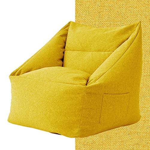 Super Suave Frijol Presidente Bolsa Sala de Estar Sofá del Ocio de la Silla sofá Inflable Lavable Alta elástico ergonomía Memoria (Color : B, Size : 66 * 66 * 70cm)