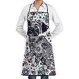 NAN TIAO Bulldog-or-Pug-Dog Einstellbare Latzschürze für Küche BBQ Kochen Frauen Männer Chef mit...