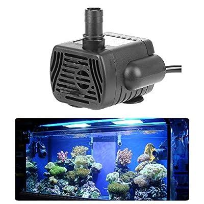 Soonhua - Pompe à eau submersible électrique submersible de petite taille - Mini-pompe à eau 3W, 200 L/ H - Unité de puissance pour fontaine, étang, aquarium, piscine et pisciculture