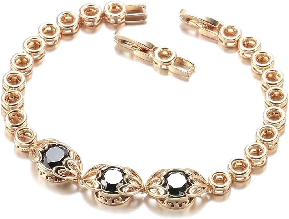 Chain & Link Bracelets for Women, Fashion Ethnic Bride Black Natural Zircon Bracelet, Jewelry Come Gift Box, Women Girls Motivational Birthday