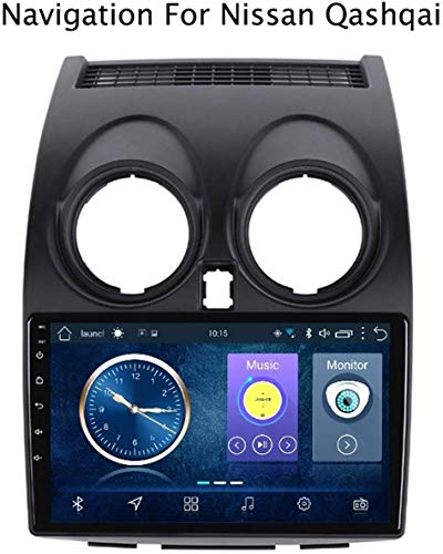 GLFDYC Android 8.1 GPS Navigation Radio TV, 9 Zoll Full Touch Screen Autoradio, für Nissan Qashqai 2006-2013, mit DAB + CD DVD Lenkradkontrolle Bluetooth USB FM AM,4G+WiFi:2+32G