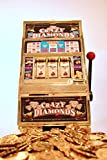 Friday   Jumbo Slot Machine Plus 50 Metal Gaming Coin Tokens - for Adults and Awesome Casino Party Decoration