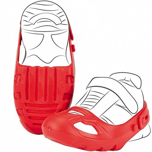 #1118 Schuhschoner mit Riemen rot für Schuhgröße 21-27 • Schuh Schoner, Schuhschützer, Größe, Rutscher, Bobby Car, Das lästige Schuhewechseln hat damit EIN Ende, Originalverpackung: ca. 260 g .