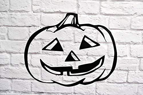 Jack O Lantaarn Halloween Pompoen Vinyl Muursticker Art Muursticker Voor Kamer Decor 11