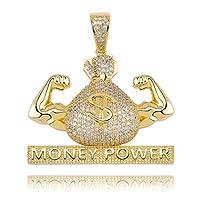 【DAWN OF US】 ネックレス ヒップホップ ネックレス お金の袋 ブリンブリン ロング 60cm プレゼント 誕生日 パーティー (C)