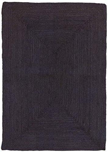 HAMID Alfombra Yute Alhambra Color wengue- Alfombra 100% Fibra de Yute (Wengue, 80x150cm)