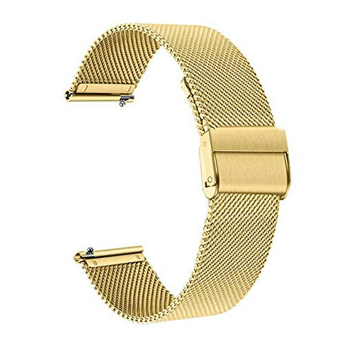 Strap De Banda De Reloj De 22 Mm Milanda Para Huawei Watch GT / GT2 46mm / 2e / Honor Magic 2 46mm Pulsera Banda De Pulsera Reemplazo De La Pulsera Correa ( Color : Gold , Size : For huawei gt or 2e )