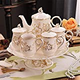 Tea Set Coffee Set Ceramic Tea Set Ceramic Coffee Cup English Water Afternoon Tea Ceramic Tea Sets (Color : Photo Color, Size : One Size)