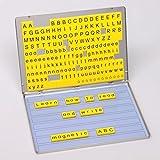 Betzold 42290 - Lese-Magnetbox Sprachförderung 213 Magnet-Buchstaben + 32 Arbeitsblätter - Lesen Lernen Kinder Grundschule