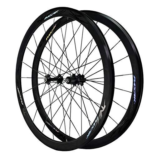 Rennrad Fahrrad Laufrad 700C Laufradsatz Double Layer Rim C/V Bremse QR 7/8/9/10/11/12 Geschwindigkeit Kassettenschwungrad 20/24 Loch (Color : B)