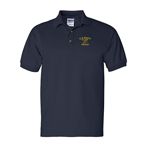 US Navy Seals Custom Personalized Embroidery Embroidered Golf Polo Shirt 9ea5d757a7a