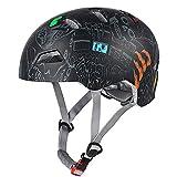 Claean-Acces-Home CascoPlegable Casco de Ciclismo Adultos Hombres Mujer Al Aire Libre Multi-Deporte Patinaje Escalada Protección Casco de Seguridad Casco de Moto-Negro_Los 55-59CM