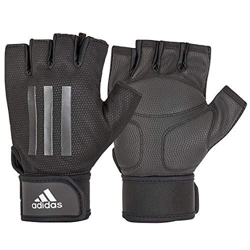 adidas Elite Training Guantes de Fitness, Adultos Unisex, Gris, L-20-21.5 cm Alrededor de la Palma