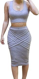 grey skirt set
