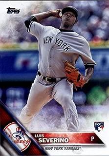 2016 Topps Variation #265 Luis Severino New York Yankees Baseball Rookie Card-MINT