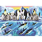 5D DIY Diamond Painting Kit para Adultos/Niños,Familia de pingüinos Pintura Diamante Grande Taladro Completo Punto de Cruz Bordado Diamantes Imitación Cristal Arts Home Wall Decor Round Drill 30x40cm