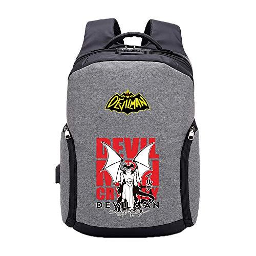Unisex DEVILAMN Crybaby Rucksäcke Schultasche Computer Rucksack Multifunktionale Daypack einfache Art Reisetasche mit USB-Ladeanschluss (Color : A02, Size : 30 X 13 X 45cm)