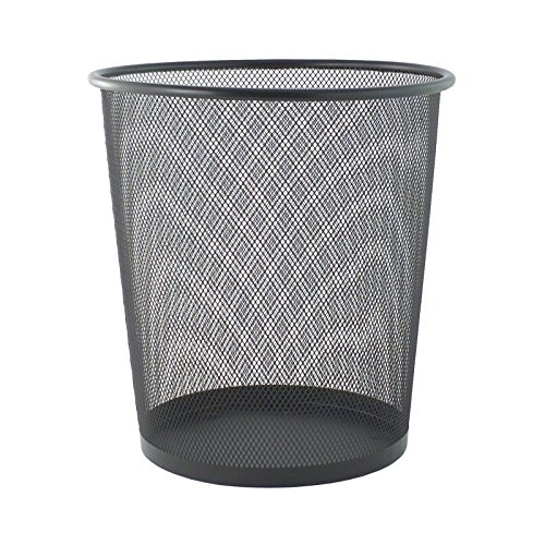 Bid Buy Direct - New Large/Small Circular Mesh Bins - Sturdy & Lightweight - 2 Colours (1 Small, Black) by Bid Buy Direct