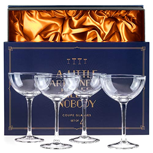 Luminarc FBA_J6576 Barcraft Coupe Cocktail (Set of 4), 5.5 oz, Clear