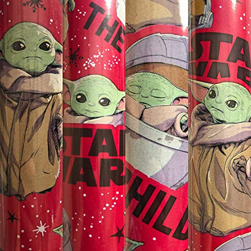 1 Roll The Mandalorian The Child Christmas Wrapping Paper 70 sq ft