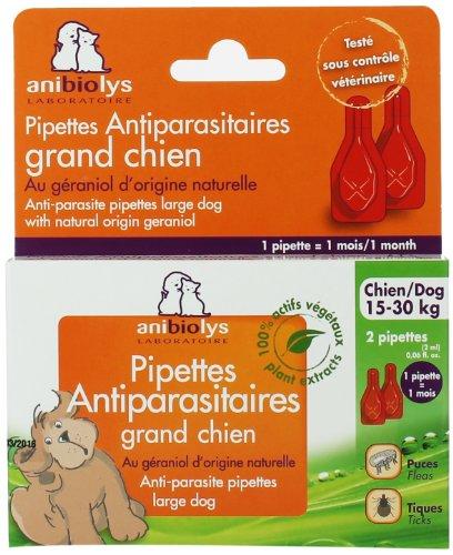 Anibiolys Préventif Pipettes Antiparasitaires Chien 15 à 30 kg 2 Unités