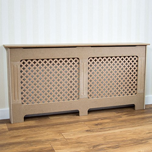 Vida Designs Oxford Radiator Cover Traditional Unfinished Unpainted MDF Cabinet Grill, Medium