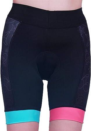 Lwlei Pantalones Cortos De Ciclista Bicicleta Mujeres Medias For El Verano Transpirable De Secado Rapido Anti Sudor Pantalon Corto Regalo Color Negro Tamano M Amazon Es Hogar