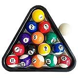 BILIYARD Pool Balls Set 1-1/2' Mini Billiard Table Balls 1.5 Inch Mini Size, Complete 16 Resin Balls Set