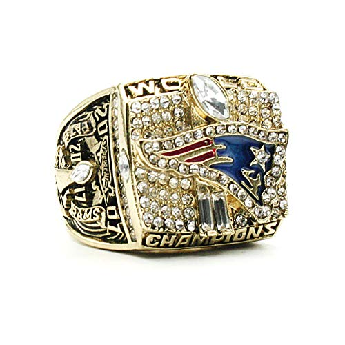 Fei Fei Anillo de Campeonato Anillo NFL Gold 2001 Patriot Championship Anillo de réplicas de Aficionados colección del Regalo de los Hombres de Recuerdo,13