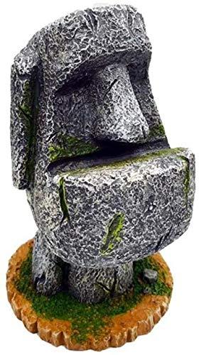 Aeromdale Portalápices de la isla de Pascua Estatua de la pluma titular elegante cepillo de dientes de resina arenisca organizador de escritorio creativo papelería almacenamiento oficina