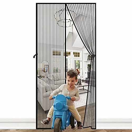 Fliegenvorhang Balkontür 90x200cm, Magnet Fliegengitter Tür Insektenschutz, Der Magnetvorhang Ist Ideal Für Die Terrassentür, Kellertür Und Wohnzimmer Schiebetür