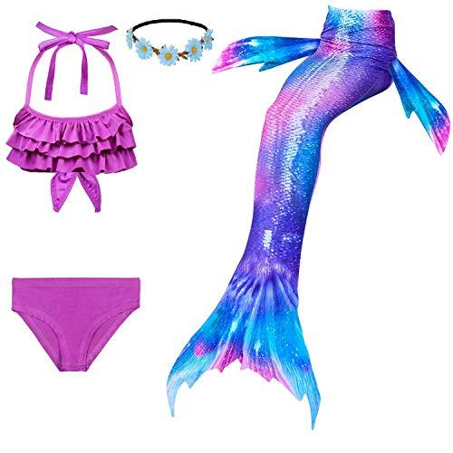 Adatto per Spiaggia//Piscina//Festa NoNo Costume da Bagno A Sirena per Adulto Coda di Sirena con Monopinna E Top Corto