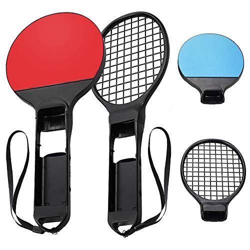 Tennisschläger für Nintendo Switch Achort Mario Tennis Aces Spiele Tennis Racket für Joy-Con Controllers, 2 Stück