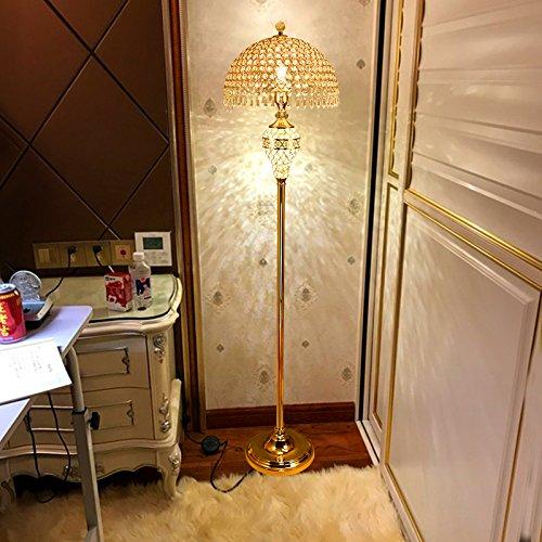 Staande lamp van kristalglas voor de slaapkamer woonkamer moderne staande lamp studio E27 schroeven afstandsbediening dimbaar LED