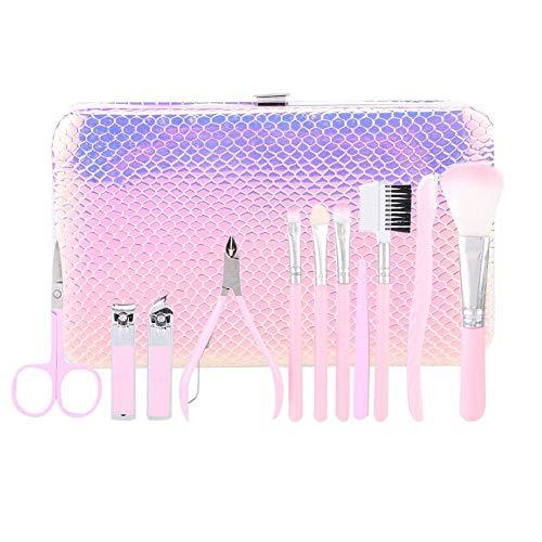 11pcs coupe-ongles coupe-sourcils outils de maquillage de manucure multifonctionnels ensemble outils de manucure outil de coupe de sourcils outils de manucure ensemble